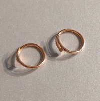 V gold material thin ring nail in rose plated for women and man wedding jewelry gift have stamp velet bag packing PS3136A