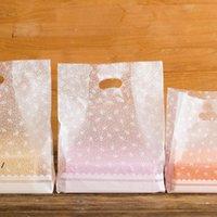 Gift Wrap White Flowers Tassen Plastic zakken, Winkelen 50 stks / partij DWD8282