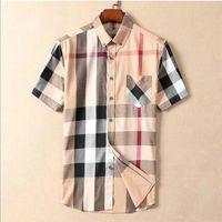 2021 Luxurys Дизайнеры мужские Платья Рубашки Летние Высокое Качество Мода Повседневная Бизнес Рубашка Белье Станция Воротник Короткие Рукава M-3XL # 29