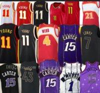 2021 NUEVOS Jerseys de baloncesto para hombre Vince 15 Carter Retro Tracy 1 McGrady Basketball Jersey Men Trae 11 Young Spud 4 Webb Jerseys transpirable