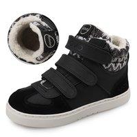 UOVO бренд зимние кроссовки для детей мода теплый спортивный обувь детей большие мальчики и девочки повседневные туфли размером 30 # -39 #