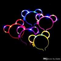 Bunte Glühstöcke Party Dekoration LED Kopfband Kaninchenohren Form Glühen Blume Haarschmuck Leichte Sticks Zappeln Spinner Spielzeug