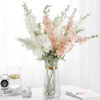 Dekorative Blumen Kränze 85cm 1 Bündel Künstliche Pflanzen Gefälschte Blume Wohnkultur Weihnachtskranz Produkte Seide delphinium