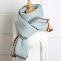 High Quality Lady Winter Scarf Shawls Solid Knitted Cashmere Women Scarv Pashmina Female Thick Warm Unisex Blanket Stol 2021