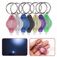 미니 토치 키 체인 조명 열쇠 고리 UV 빛 LED 전구 마이크로 라이트 키 체인 손전등 최고 품질