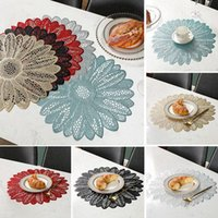 Leaf Shape Dining Western Placemat Mat Waterproof Heat-insulated Pad Placemats For Kitchen Table Mats & Pads