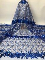 African 3D Sequins кружевная ткань с Royalblue 2021 высокое качество кружева нигерийская французская сетка чистая кружевная ткань для платья