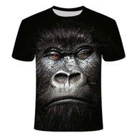 3D Hayvan Tshirt Komik Maymun Gorilla Gömlek Unisex Kısa Kollu Alternatif Hip Hop Harajuku Streetwear T Gömlek Erkekler Yaz Tops