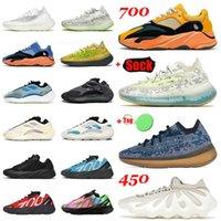 sapatos adidas yeezy boost MNVN 700 v3 380 kanye west yezzy yeezys Azareth Srphym Azael Alien Blue Oat Runner Vanta Bone brancas e pretas TAMANHO US 12 Tênis de corrida