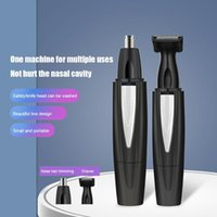 Electric Nose & Ear Trimmers 2 In 1 Facial Hair Trimmer USB Charging Shaver Eyebrow Scraper Razor Cleaner Shaving Tool