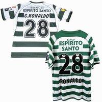 Men2001 2002 2003 2004 Sporting CP Lisboa Retro Soccer Jerseys 03/04 Ronaldo Classic Vintage Futebol Esportes Camisas
