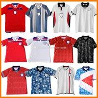 1980 1989 1990 1992 1994 1996 1998 Retro Futebol Jerseys 2008 2010 2008-10 Vintage Clássico Beckham Gascoigne Owen Inglaterra Gerrard Lampard Rooney Terry Futebol Camisa