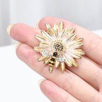Colorful Cloth Flower Pin Brooch Wedding For Women Elegant Fashion Corsage Pearl Vintage Jewelry Accessories Birthday Gift