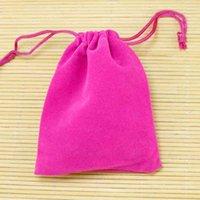 전체 100pcs 9x12cm 핑크 작은 매력 쥬얼리 포장 S 귀여운 Drawstring 벨벳 주머니 쥬얼리 선물 가방
