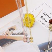 Collana pendente in pietra moda per uomo donna lettera design collane ciondoli gioielli 3 colori altamente qualità