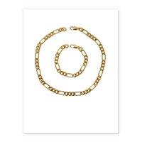 Collier Set Aspirateur Placant Real Gold Chain Bracelet Fashion Hommes Femmes Bijoux Cadeaux