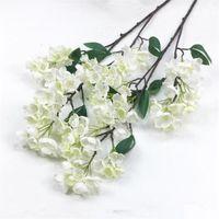 """Guirnaldas de flores decorativas 10 unids Falso Tallo largo Flor de manzana (3 tallos / pieza) 37.8 """"Longitud simulación melocotón para hogar artificial"""