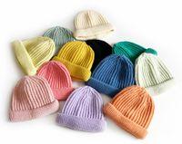 Beanie Skull Caps Fashion Stripe Winter Hat Women Skullies Beanie Ladies Girl Outdoo Warm Soft Solid Knitted Bonnets Cap Wholesale