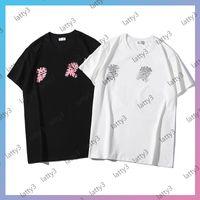Männer Damen Designer Luxurys T-shirts T-Shirts T-Shirts Tops Stylist T-shirts Männer Frauen Paris Print Kurze Ärmel Schwarz Weiß S-3XL 21041003T