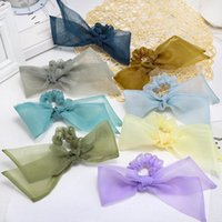 Fashion Mesh Sweet Bow Hair Scrunchies Women Tie Rope Rubber Bands Ponytail Holder Accessories1