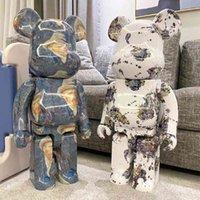 Bearbrick şiddet 400% yapı taşı ayı van gogh kendi kendine portre modeli dekorasyon moda oyuncak bebek