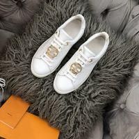 2021 Mens Luxe Casual Schuhe Mode ProGettista Frontrow Run weg Sport Sneaker Echtes Leder Womens Triple White Größe 35-41