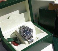 Fabriksförsäljning Watch Julklapp Automatisk rörelse 40mm Mens Svart Keramisk Bezel 116710 Med Original Box Dykning Klockor