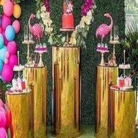 Party Decoration 5pcs set)Wedding Plinths Crystal Aisle Pillars Pedestal Centerpiece Round Geometric Flower Cake Table Stand Qq17