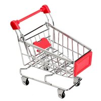 Mini Supermarket Handcart التسوق فائدة عربة الوضع تخزين لعبة سلال حمراء