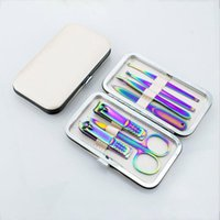 Nail Art Kits Knife Set Color Titanium Stainless Steel Tongs Pedicure Dead Skin Beauty Tool Seling Arrival