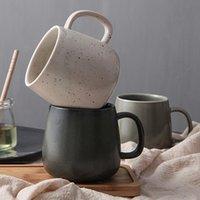 Кружки 380 мл высокой емкости Современный стиль керамической кофейной чашки кружка китайская фарфора личности чай чай