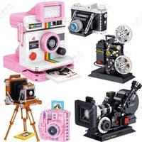 High-Tech Digital Camera Building Blocks Creator Set Model Retro Collecting DIY Brick FY2A SLR Bricks MOC Toys For Children Gift X0503