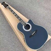 Ovation-Guitar 6文字列OvationアコースティックエレキギターエボニーフレンドボードF-5TプリアンプピックアップEQ Professional Folk Guitare