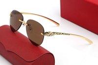 الأزياء الحديثة panthère الرجال النظارات الشمسية عدسة الطيار نموذج أنيق مصمم طيار نظارات إطار المعادن النمر رئيس الكلاسيكية شعار الطلاء العملية المعابد الذهبية مع مربع