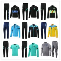 21 22 Erkek Napoli Futbol Eşofman Futbol Hoodie Ceket 2021 2022 SSC Napoli Hommes Eğitim Giyim Oluşumu Tuta Chandal Wequies Jogging