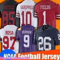 1 Mac Jones Jersey NCAA College Football Jersey 10 Jimmy Garoppolo Jerseys 85 George Kittle Jersey 97 Nick Bosa 25 Richard Sherman Jerseys
