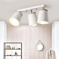 Lámparas de techo de rotación nórdica de madera Lámparas de metal ajustables Lámparas de lámparas para el corredor de Kicthen Lustre de lustre de interiores Colgante colgante
