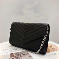 흑인 여성 가방 원래 상자 정품 가죽 고품질 여성 메신저 핸드백 지갑