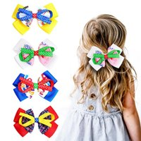 15837 Baby Girls Mixed Color Bowknot Barrettes Kids Hair Clips Princess Girl Three Layer Ribbon Bow Hairpin Barrette Children Hair Accessories