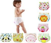 Pantaloni del pane dei cartoni animati per bambini Pantaloni da perdita Panno del pannolino per la caduta del pannolino per la formazione del bambino Born Diapers