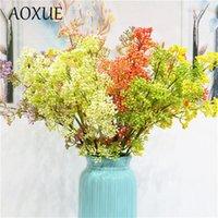 Dalları Renk Milan Meyve Simülasyonu Sahte Çiçek Ev Yumuşak Dekorasyon Düğün Sprey Plastik Yeşil Bitki Dekoratif Çiçekler Çelenkler