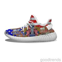DIY pattern shoes USA Statue of Liberty Running Shoes Mesh Printed Mens Womens Trainers Outdoor sneakers