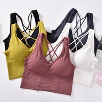 Camisoles & Tanks Women Tank Top Backless Seamless Crop Female Underwear Bralette Fitness Active Wear Sexy Lingerie Removable Cups Camisole