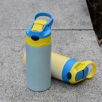 التسامي الأشعة فوق البنفسجية تغيير لون مستقيم سيبي كوب 12 أوز الاطفال بهلوان باتينلز الصلب زجاجات الطفل مزدوج الجدار فراغ تغذية زجاجة التمريض للأطفال