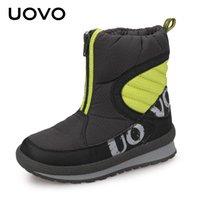 UOVO 2021 소년과 소녀를위한 새로운 신발 고품질 패션 키즈 겨울 부츠 따뜻한 눈 어린이 신발 크기 # 30-38