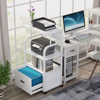 Mobile file cabinet with printer shelf, 3 tier stand legal size drawer, rolling filing cart torage shelves for home office kitchen.