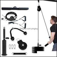 Aessories Equipments Supplies Sports & Outdoors12 Set Home Diy Fitness Pley Rope Attachment System Loading Pin Lifting Arm Biceps Triceps Ha