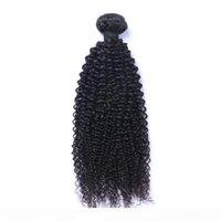 Бразильские девственницы человеческие волосы афро странные кудрявые необработанные ременные волосы плетения волос двойные Wefts 100g Bundle 1Bundle Lot можно окрашено отбеленным