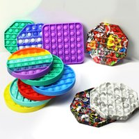 Big Size Fidget Toys 20*20cm Pops It Square Antistress Toy Rainbow Push Bubble Figet Sensory Squishy Jouet Pour Autiste LLE6432