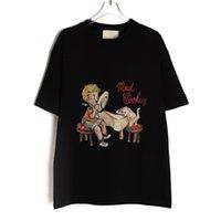 고품질 곰 디자이너 티셔츠 남성 여성 양고기 캐주얼 티셔츠 짧은 소매 힙합 탑 티 펑크 인쇄 자수 편지 여름 스케이트 보드 패션 의류 큰 크기